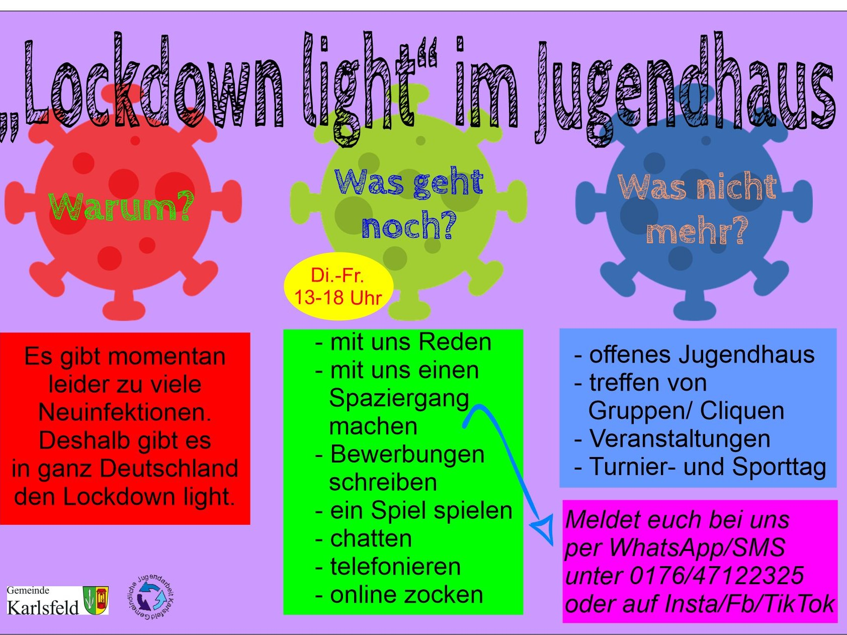 Lockdown light im Jugendhaus